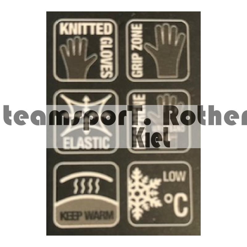 Erima Feldspielerhandschuh Fußball Handschuhe Noppen rot schwarz royal