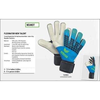Erima FLEXINATOR New Talent curacao//green gecko Torwarthandschuhe TW-Handschuhe