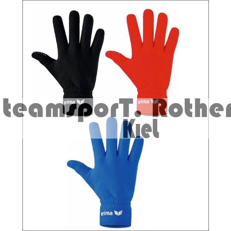 erima Fleece Handschuhe Fußball Feldspielerhandschuhe rot 2221802