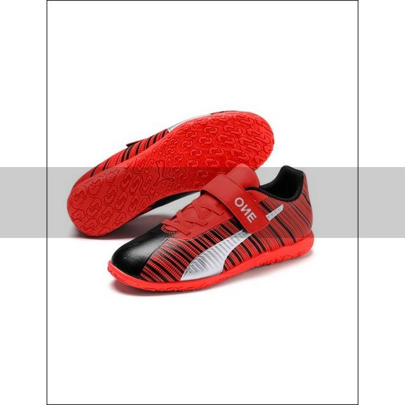 Puma One 5.4 IT V Jr. Fußballschuhe Kinder puma black nrgy red puma aged